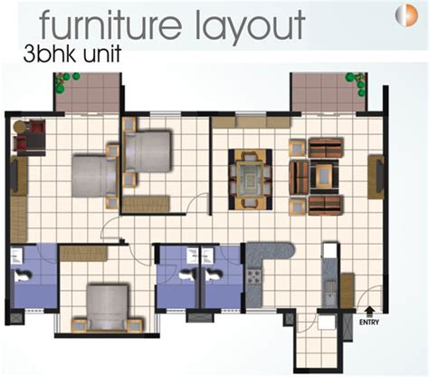 furniture layout floor plans sjr equinox electronic city phase 1 sjr bangalore residential property