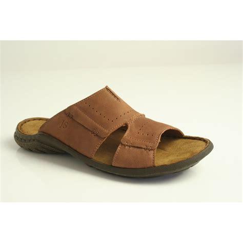 mens sandal josef seibel quot logan 21 quot s sandal in nut brown leather