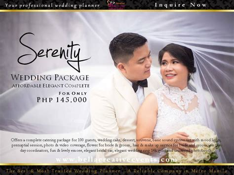 Wedding Packages in Metro Manila Philippines by Bella