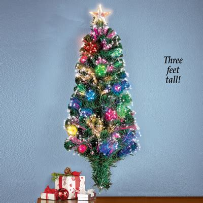 fiber optic wall christmas tree 3 foot from collections etc