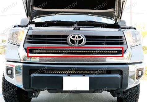led grill light bar 1 lower bumper grill mount for 2014 up toyota tundra
