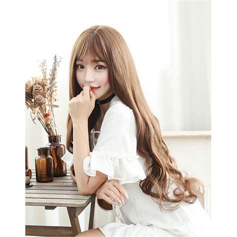 Jual Rambut Palsu Wig Synthetic Hair wig pria wig rambut palsu model wavy 65 cm brown