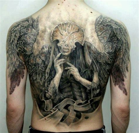 tattoo angel of death hell boy tattoo angel of death wicked tattoos pinterest