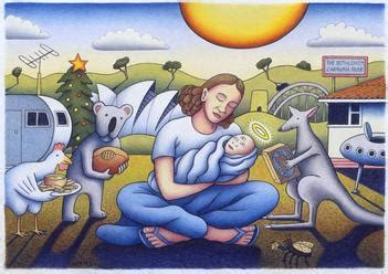 australian nativity fairfax photos nativity birth of australian jesus reg mombassa print original artwork