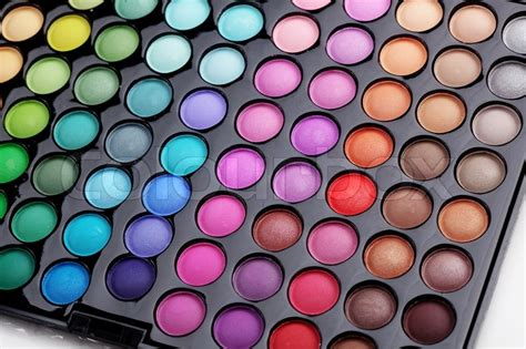 colorful eyeshadow palette make up colorful eyeshadow palette stock photo