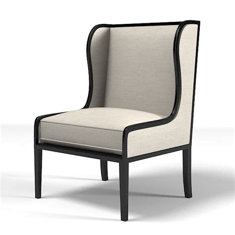 classic wing armchair 3d ixelles wing chair
