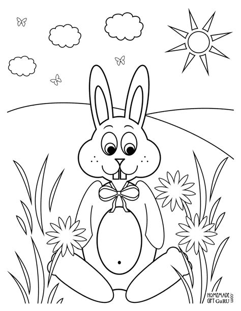 little bunny coloring pages cute little bunny for kids to color easter pinterest