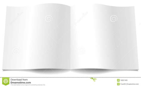 blank magazine spread template blank magazine spread royalty free stock photo image 18257405