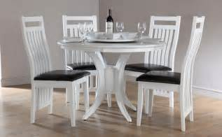 White Dining Room Table Set Somerset Java White Dining Room Table And 4 Leather Chairs Set Ebay