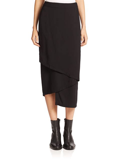 black midi wrap skirt dress