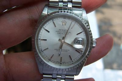 Jam Tangan Rolex Silver Romawi jam tangan for sale rolex 16220 white silver sold