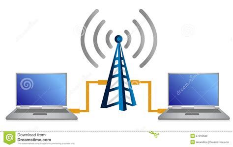 Wifi Connection wifi laptop connection concept illustration stock