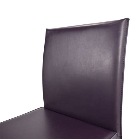 purple leather chair crate and barrel 61 crate and barrel crate barrel folio leather