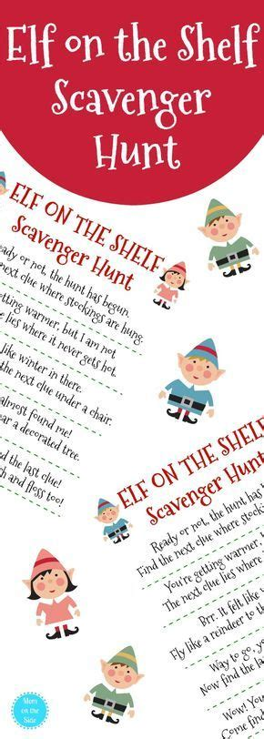 printable elf on the shelf scavenger hunt need elf on the shelf ideas grab this free printable elf
