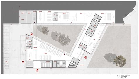 Office Floor Plan am3 architetti wins boarding school competition 09