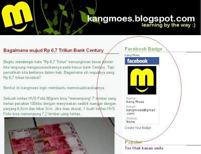 membuat facebook badge cara membuat facebook badge lencana facebook tips trik