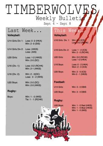 weekly bulletin template shirley cdnis school