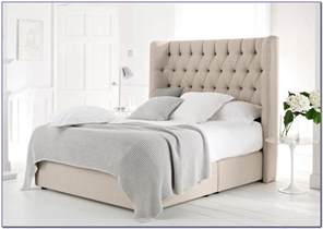 Upholstered Bed Frame With Storage Canada 100 Davidson Tufted Headboard Talc Linen 139 Best