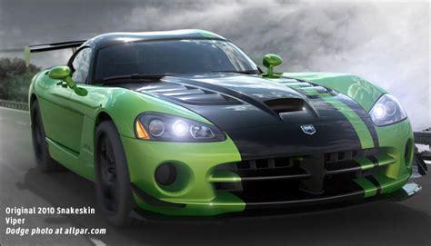 green and black viper the 2017 dodge viper special editions
