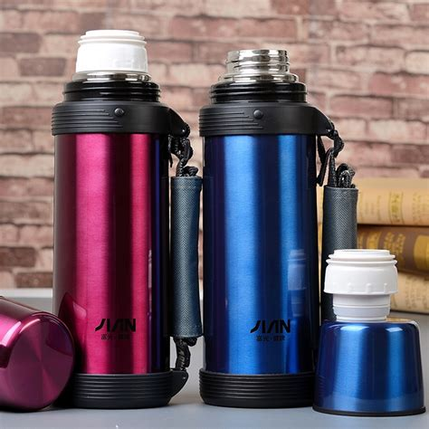 Shuma Thermos Termos Vacuum Flask Bottle Mug 1000 Ml 1 Lt large outdoor vacuum flask thermos cup 1000ml seismic popular brands stainless steel food