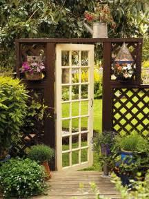 backyard door 7 ways to upscale upcycled doors