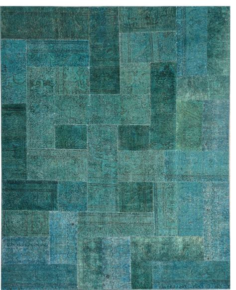 Turquoise Green Rug handmade turquoise green patchwork rug 8 x 9 11