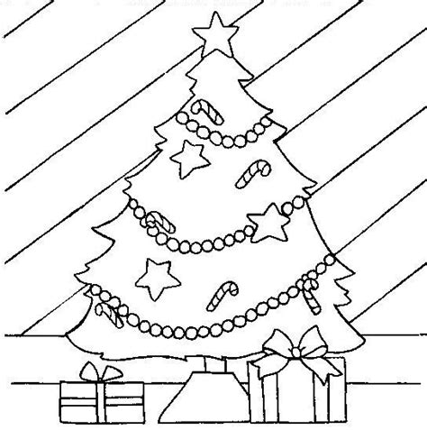 Present Under The Christmas Tree Coloring Page Coloring Page Of Tree With Presents