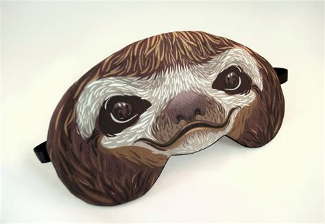 sloth mask template sloth sleep mask by appendageaccessories on etsy