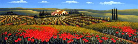 Wall Murals Modern vineyard in tuscany by giuseppe pino