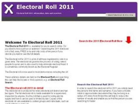 Free Electoral Roll Search By Address 39 Similar Like Peopletracer Co Uk Similarsites