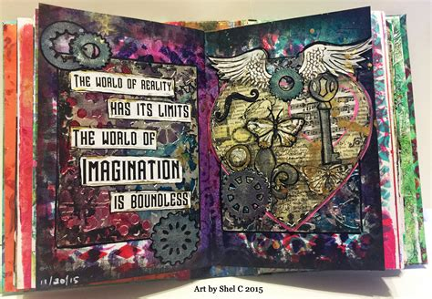 painting pages nanojoumo journal page steunk