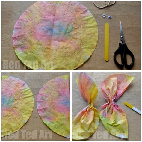 Coffee Filter Paper Crafts - coffee filter butterfly crafts for preschoolers ted
