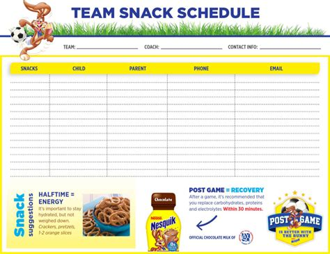 snack calendar template team snack schedule template for free tidyform