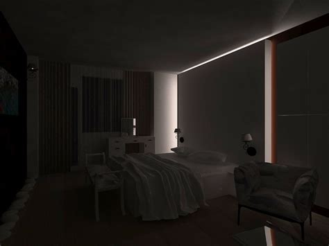 Bedroom With Turn Lights
