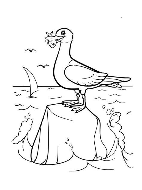 sea birds coloring pages sea gull birds coloring pages sea best free coloring pages