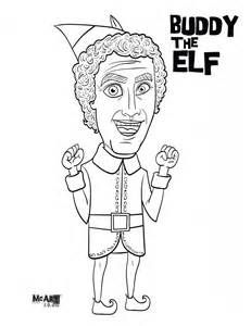 buddy the elf amp jovie coloring pages mcillustrator