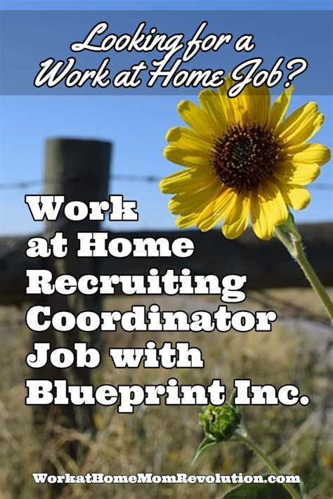 work at home recruiting coordinator with blueprint inc