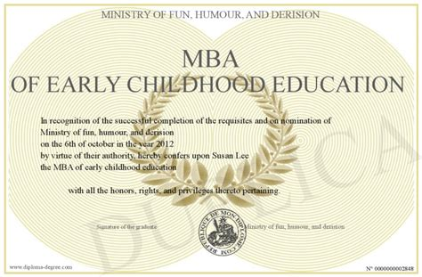Getting An Mba Early by Mba Of Early Childhood Education