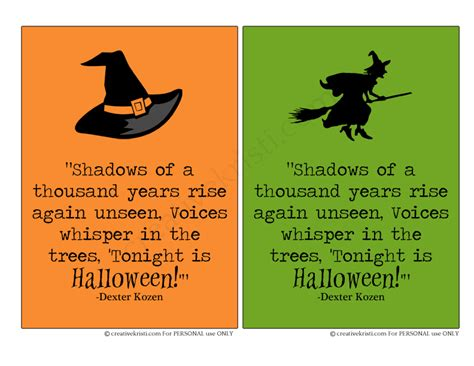 printable halloween quotes shadows of a thousand years quote free 5x7 printable