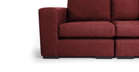 deep red sofa abingdon 4 seater modular sofa in deep red made com