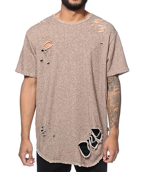 terry t shirt eptm thrashed elongated terry t shirt