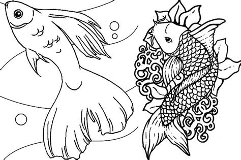 coloring pages of fish for adults print download cute and educative fish coloring pages