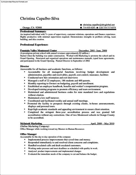 Wordpad Resume Template by Wordpad Resume Template Free Sles Exles Format