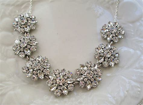 bridal statement necklace wedding necklace by missjoansbridal