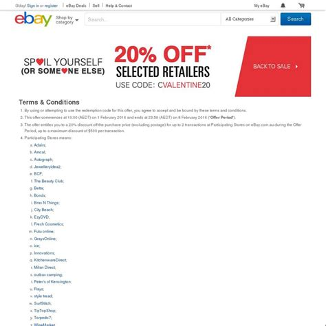 ebay ozbargain ebay 20 off 28 stores futu betta rays grays more