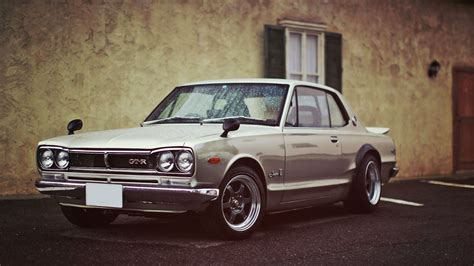 nissan black car old cars classic hakosuka nissan skyline 2000 gt r rims tuned