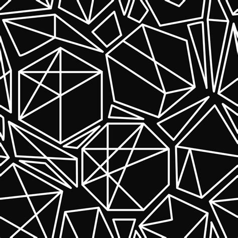 geometric pattern mural black and white vector geometric seamless pattern wall