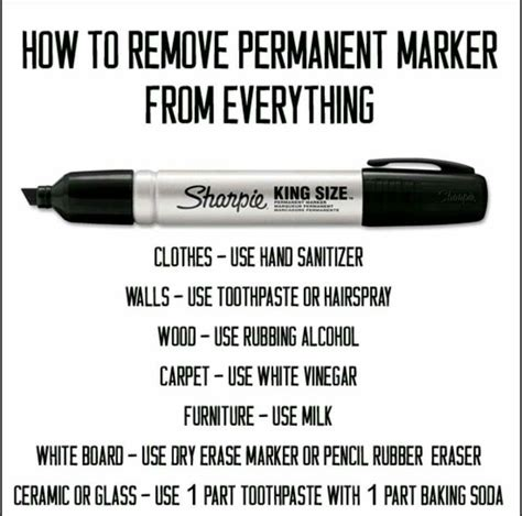 how to remove pen from couch removal of permanent marker from clothes walls wood