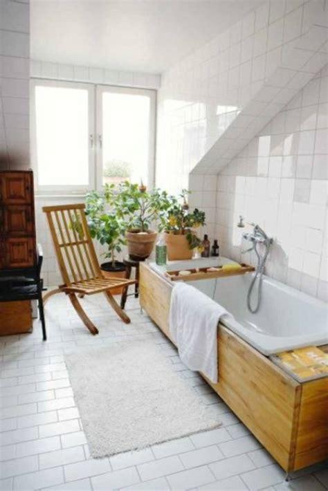 ideen für die verzierung des badezimmers badezimmer design mit blumen und pflanzen originelle