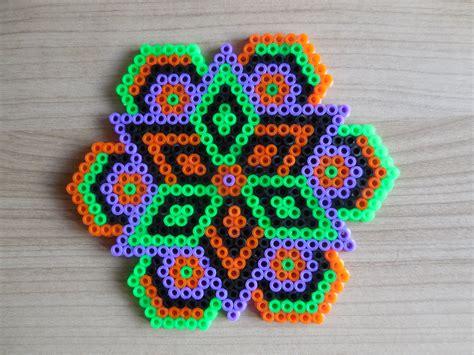 hama beads house design halloween halloween ornement mandala hama perles par tcashop sur etsy perler bead
